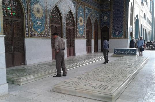 گلزارشهدا باغ ملی قم -شهدای سوم خرداد