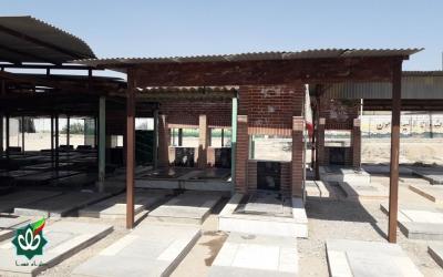 گلزار شهدای شهر سیاه منصور